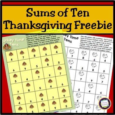 Adding Ten for Thanksgiving