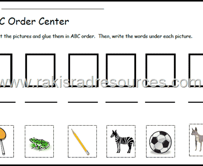 Free Alphabetical Order Literacy Center