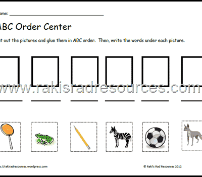ABC Order Literacy Center