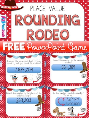 Place Value Rounding PowerPoint Game Freebie