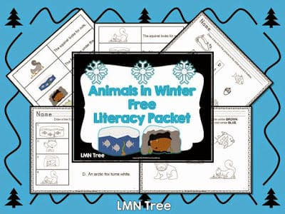 Animals in Winter Literacy Packet