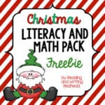 Christmas-Themed Literacy and Math Morning Work