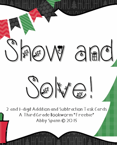 Christmas Word Problems (Add and Subtract) FREEBIE!