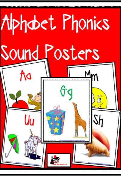 Free Phonics Based Alphabet Posters from Raki's Rad Resources
