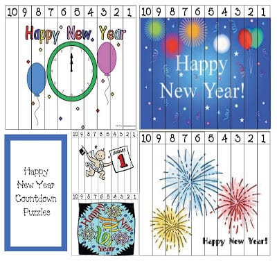 Happy New Year Number Puzzles