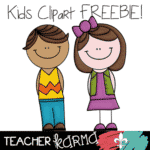FREE Clipart:  2 Cute Kids