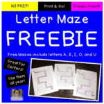 FREE Vowel Letter Recognition Mazes