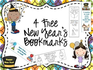 Happy New Year Bookmarks