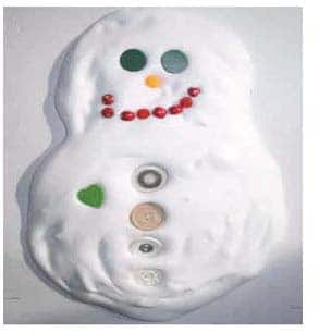 Awesome Shaving Cream Snowman Craft