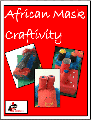 Free download - African mask craftivity from Raki's Rad Resources.