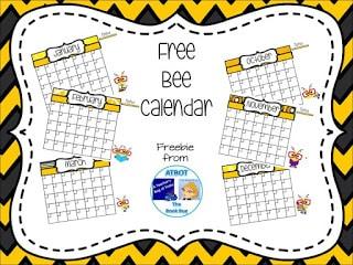 Free Bee Calendar