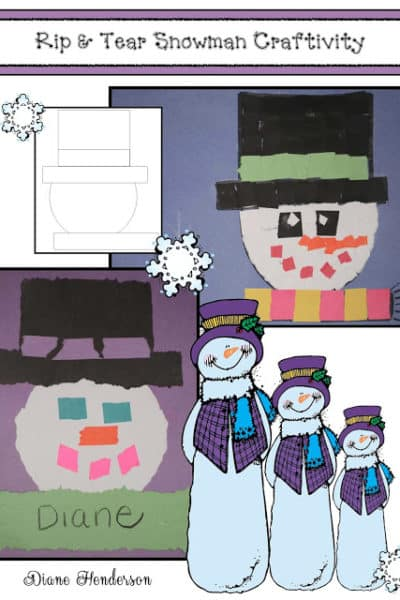 Rip & Tear Snowman Craft