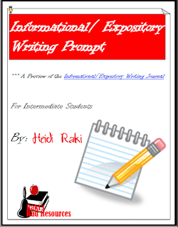 Free informational writing prompt to workon the writing process from Raki's Rad Resources.