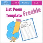 List Poem Template