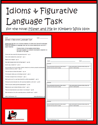 Idioms and Figurative Language Task for Mister and Me