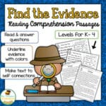 Text Evidence Freebies