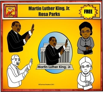 Martin Luther King and Rosa Parks Clip Art