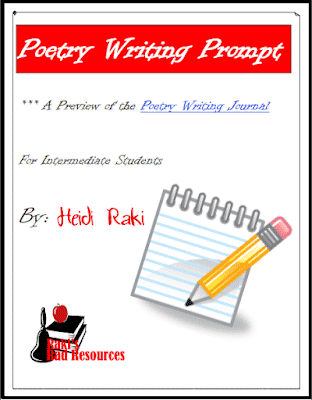 Free poetry writing prompt from Raki's Rad Resources.