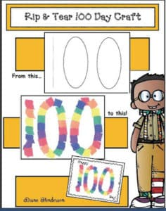 100th Day of School Activities including bookmarks, t-shirt tips, lesson plan ideas, and nore! #100thday #kindergarten