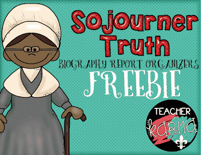 HUGE Freebie:  Sojourner Truth Biography