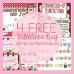 4 Valentine's Day Printables and Games!