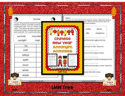 Chinese New Year Antonym Activity Packet
