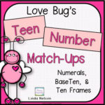 Teen Numbers with the Valentine Love Bugs