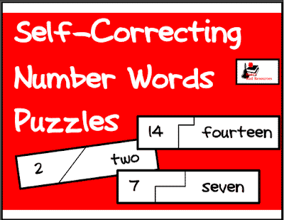 Self Correcting Puzzle for Your Math Center