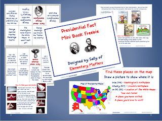 Presidential Fact Mini Book Freebie