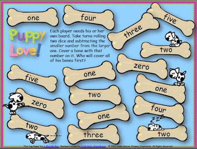 Puppy Love Game Boards for the Skills YOU are Teaching Right Now!