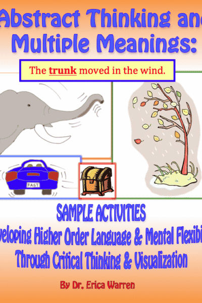 Free Sample Activities for Abstract Thinking and Multiple Meanings
