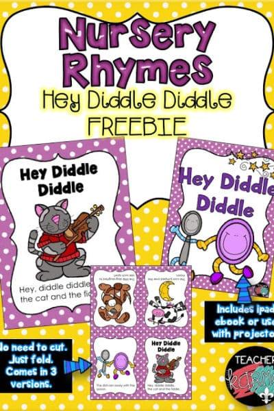 FREEBIE:  Nursery Rhyme Printables