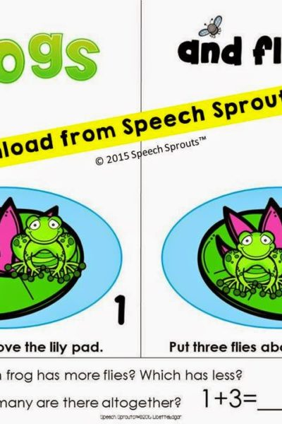 Quantity Concepts with Frogs and Flies! Math Vocabulary Freebie