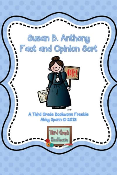 Fact and Opinion Freebie for Women's History Month!