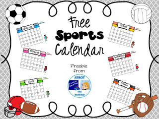 Free Sports Themed Calendar