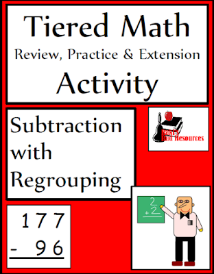 Free Tiered Subtraction with Regrouping Activity