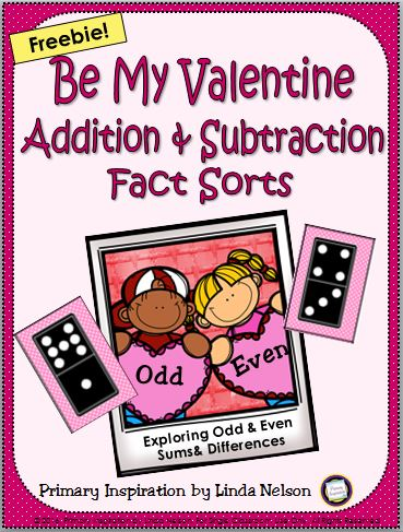 Valentines Day Math Fact Sort
