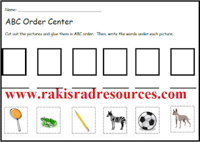 Alphabetical Order Literacy Center - Classroom Freebies