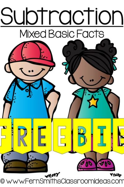 Fern Smith's FREE Mixed Subtraction Center Game