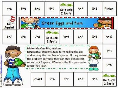 Green Eggs and Ham Math Games
