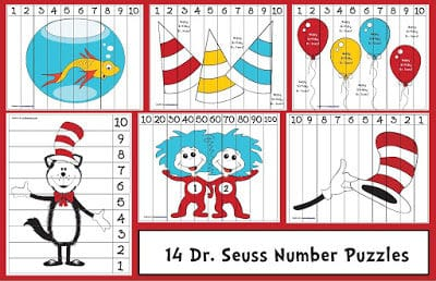 Seuss-themed Number Puzzles
