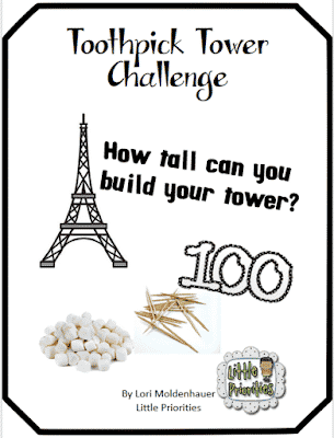 Toothpick and Marshmallow Tower Challenge