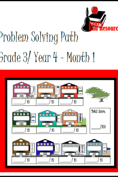 Free Real Life Math Problem Solving Journal