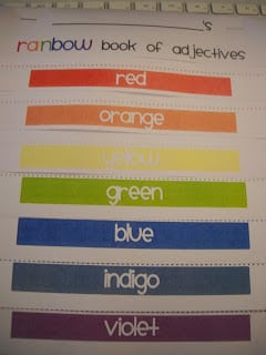 Rainbow of Adjectives