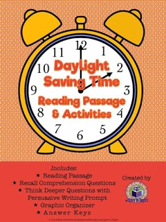 Daylight Saving Time Reading Passage and Activities