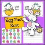 Spring Egg Addition Fact Sort