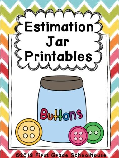 Estimation Jar Classroom Freebies