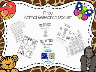 Animal Research Packet Freebie