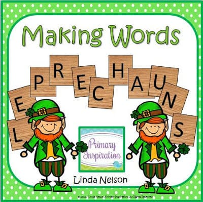 Just-a-Little-Irish Making Words Activity