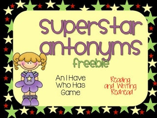 Superstar Themed Antonym Game